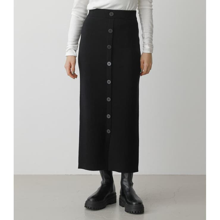 SWEATTER BUTTON TIGHT SKIRT | AZUL BY MOUSSY | 詳細画像1