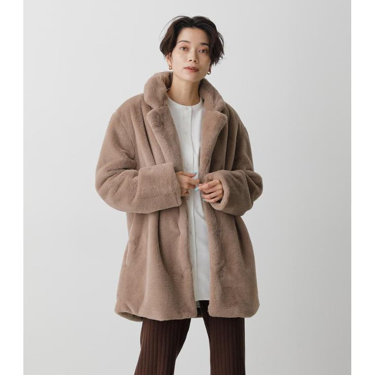 FLUFFY CHESTER COAT | AZUL BY MOUSSY | 詳細画像1