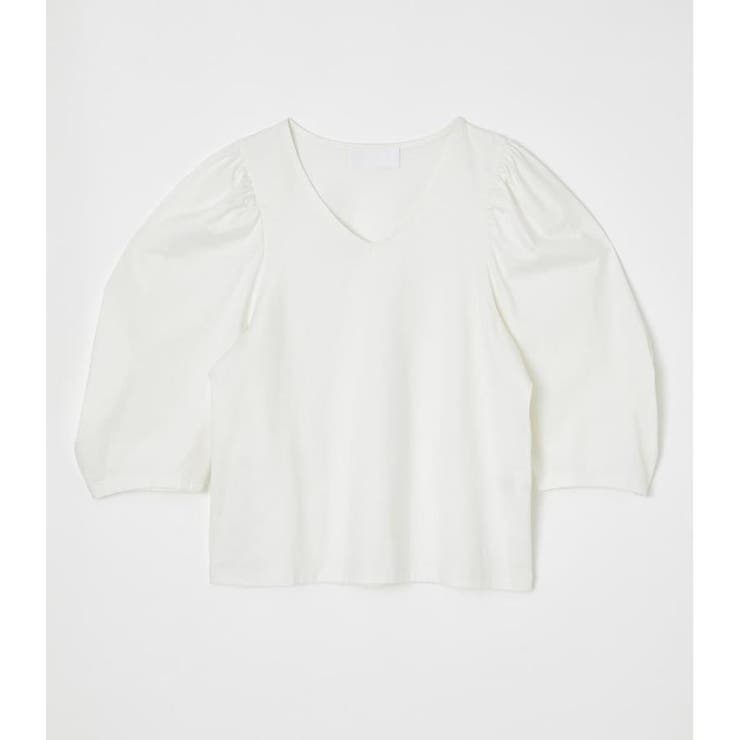 VOLUME SLEEVE PUFF TOPS | AZUL BY MOUSSY | 詳細画像1