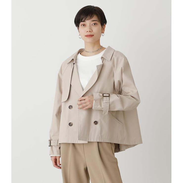 FLARE SHORT TRENCH COAT   AZUL BY MOUSSY   詳細画像1