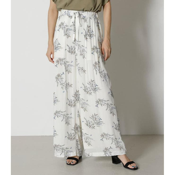 FLOWER RELAX PANTS | AZUL BY MOUSSY | 詳細画像1