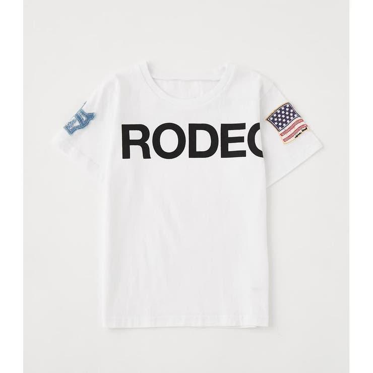 キッズSLEEVE PATCH Tシャツ   RODEO CROWNS WIDE BOWL   詳細画像1