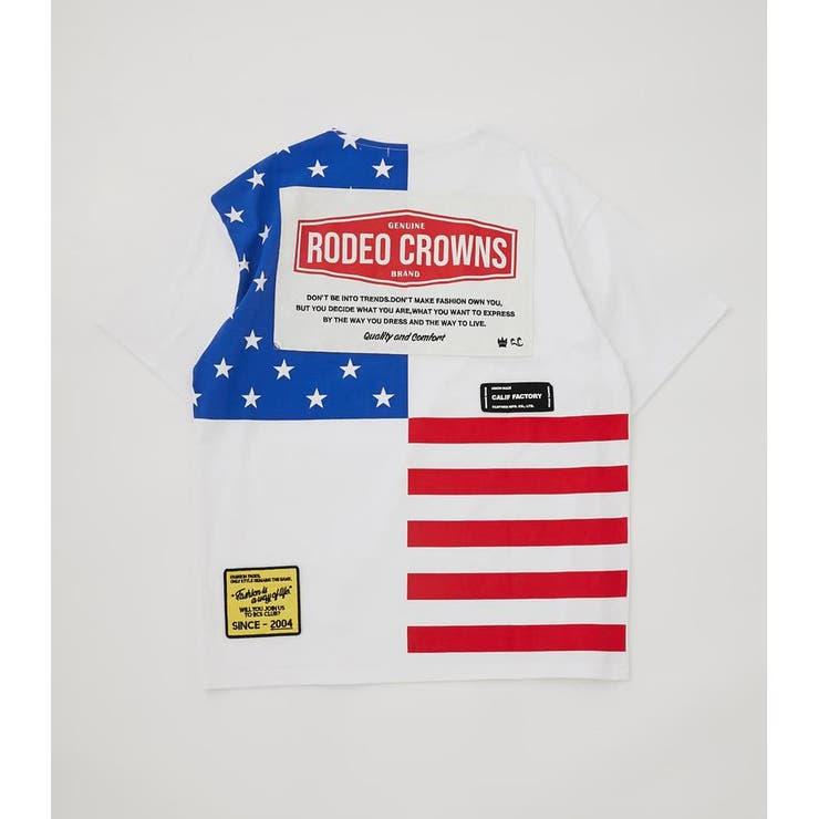 メンズバックUSフラッグTシャツ | RODEO CROWNS WIDE BOWL | 詳細画像1