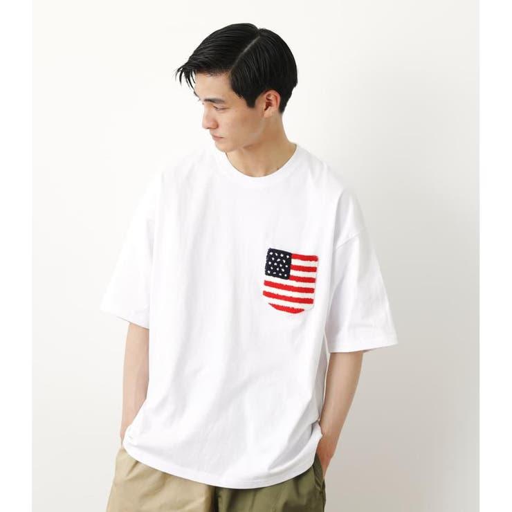 サガラポケットTシャツ   RODEO CROWNS WIDE BOWL   詳細画像1