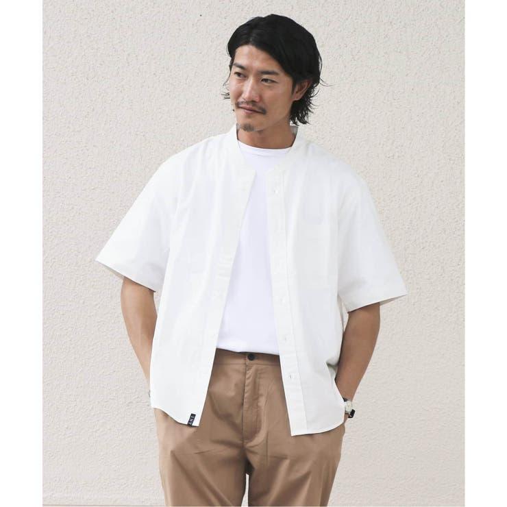 半袖スタンドカラーシャツ   B.C STOCK   詳細画像1