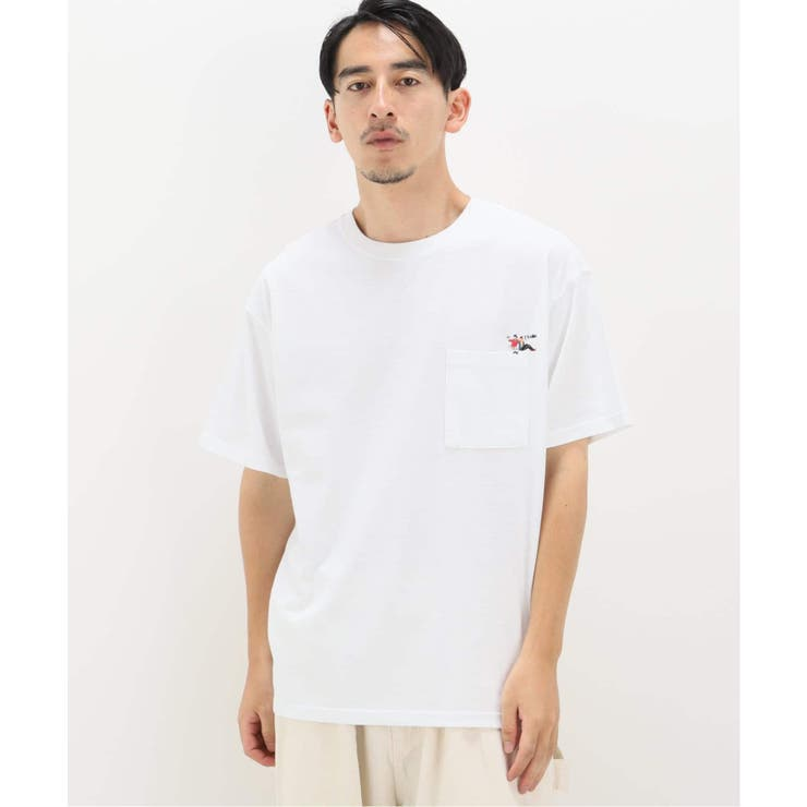 W/U ポケット 刺繍 S/S Tシャツ   B.C STOCK   詳細画像1