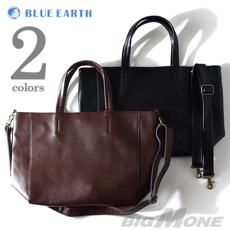 大きいサイズ メンズ BLUE EARTH(ブルーアース) レザートートバッグ azbg-006 大きいサイズの メンズファッション財布 ウォレット バッグ 鞄 かばん おしゃれ 大容量 かっこいい ビジネス レザー 本革 通学 通勤