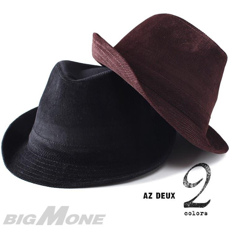 大きいサイズ メンズ [60〜64cm]AZ DEUX コーデュロイ中折れハット【帽子】azcp-155 大きいサイズのメンズファッション 帽子 キャップ ハット ワッペン カジュアル アメカジ ストリート ニット帽