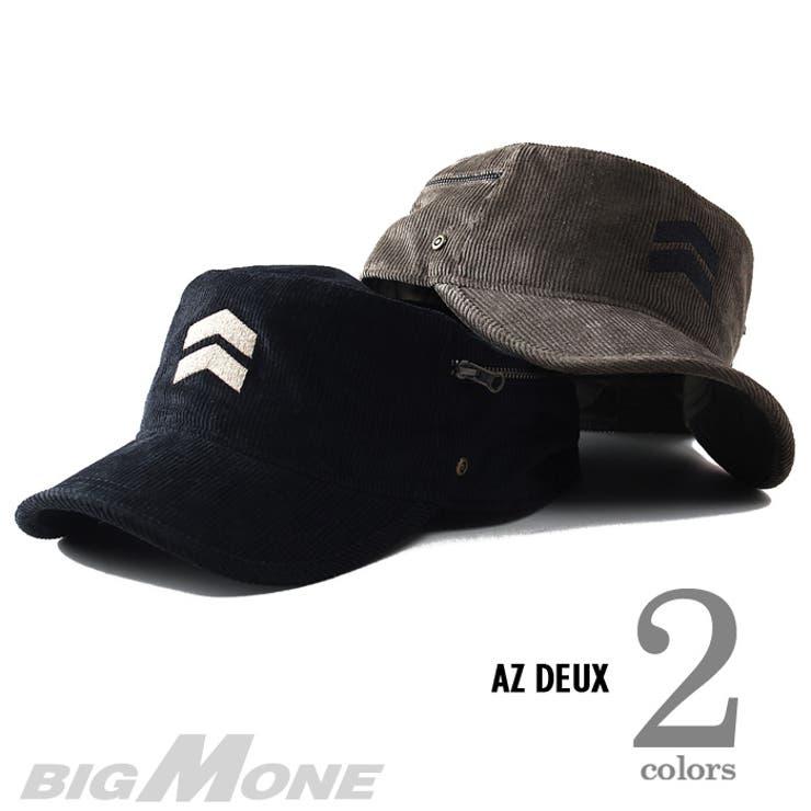 大きいサイズ メンズ AZ DEUX コーデュロイワークキャップ【帽子】azcp-157 大きいサイズの メンズファッション 帽子キャップ ハット ワッペン カジュアル アメカジ ストリート ニット帽