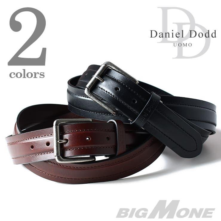 大きいサイズ メンズ DANIEL DODD サイドステッチレザーベルト【ロングサイズ】 azcl-024l 大きいサイズのメンズファッション ベルト サスペンダー カジュアル お兄系 レザー おしゃれ
