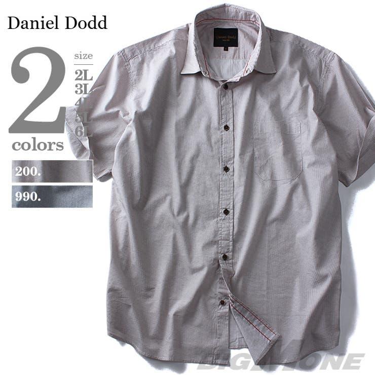 大きいサイズ メンズ DANIEL DODD 半袖千鳥柄プリントシャツ azsh-160233 大きいサイズの メンズファッション2L 3L 4L 5L 6L 半袖 半そで カジュアル カジュアルシャツ 半袖カジュアルシャツ 半袖シャツ アメカジ お兄系 おしゃれ