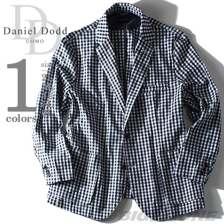大きいサイズ メンズ DANIEL DODD ギンガムチェックシャツジャケット azsh-150136j 大きいサイズのメンズファッション 2L 3L 4L 5L 6L アウター ジャケット メンズジャケット テーラード カジュアル