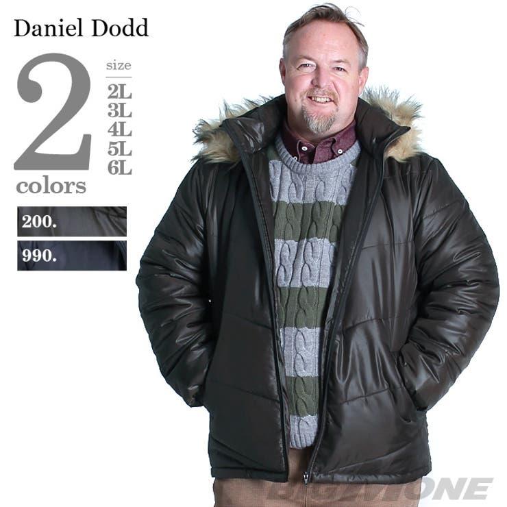 大きいサイズ メンズ DANIEL DODD シレーフーデッド中綿ブルゾン【秋冬新作】azb-1324 大きいサイズのメンズファッション 2L 3L 4L 5L 6L アウター ジャケット メンズジャケット 中綿 アメカジ カジュアル ミリタリー
