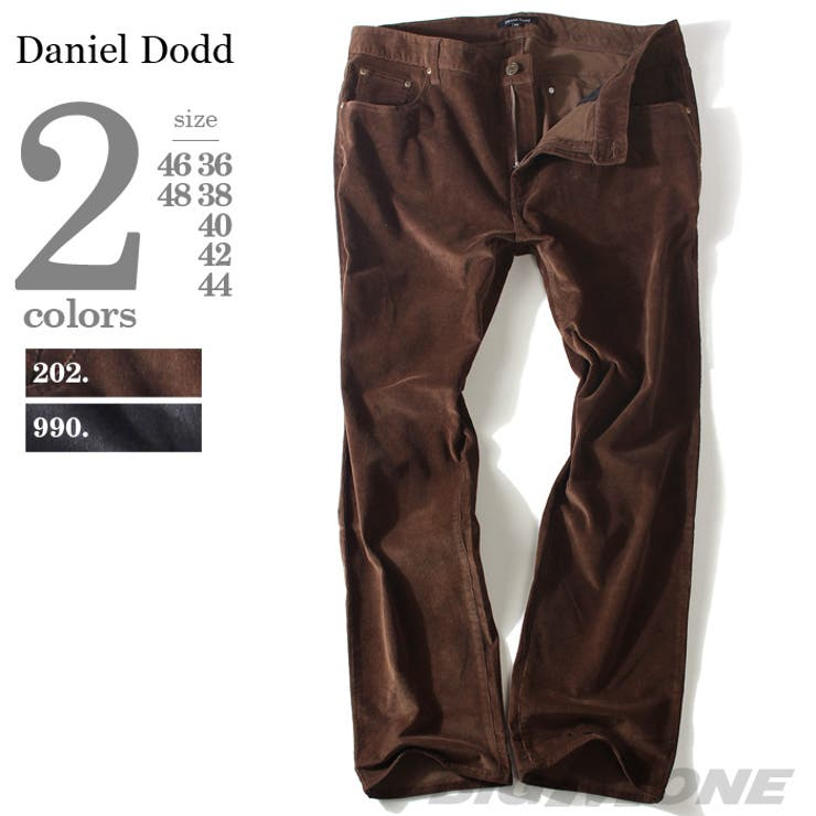 大きいサイズ メンズ DANIEL DODD ストレッチコーデュロイ 5ポケットパンツ azp-294 大きいサイズのメンズファッション 2L 3L 4L 5L 6L パンツ カジュアル カジュアルパンツ アメカジ スキニー アメカジ