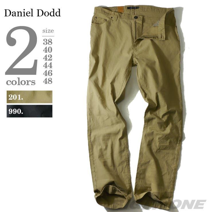 大きいサイズ メンズ DANIEL DODD ピケ5ポケットパンツ azp-1201 大きいサイズの メンズファッション 3L 4L5L 6L 7L 8L パンツ カジュアル カジュアルパンツ アメカジ スキニー アメカジ
