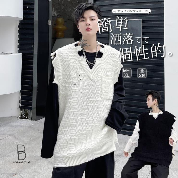 ニットベスト 韓国 ファッション | BIG BANG FELLAS | 詳細画像1