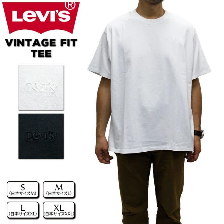 levis-39856 リーバイス メンズ Tシャツ LEVIS 39856 VINTAGE-FIT TEE | 春 夏 ブランド 半袖 涼しい 清涼 クルーネック おしゃれ シンプル ベーシック 綿100 男性 女性  levis levi's Levis LEVI'S りーばいす 白 黒 ホワイト ブラック | 詳細画像