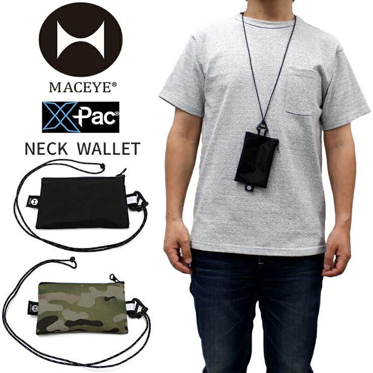 maceye-704901 マックアイ ユニセックス ACC MAC EYE 704901 X-PAC NECK WALLET | 日本製 MADE IN JAPAN ウォレット 財布 小物入れ ポーチ サコッシュ バッグ メンズ レディース おしゃれ かっこいい 防水 小銭入れ | 詳細画像
