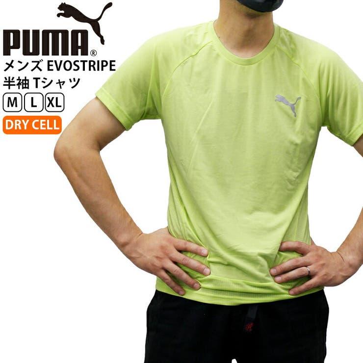 puma-585460 プーマ メンズ トップス PUMA 585460 EVOSTRIPE 半袖 Tシャツ   スポーツ 観戦 ウェア ウエア 春 夏 秋 半袖 男性 ロゴ 無地  アウトドア トレーニング ランニング ジョギング おしゃれ かっこいい ワンポイント カジュアル   詳細画像