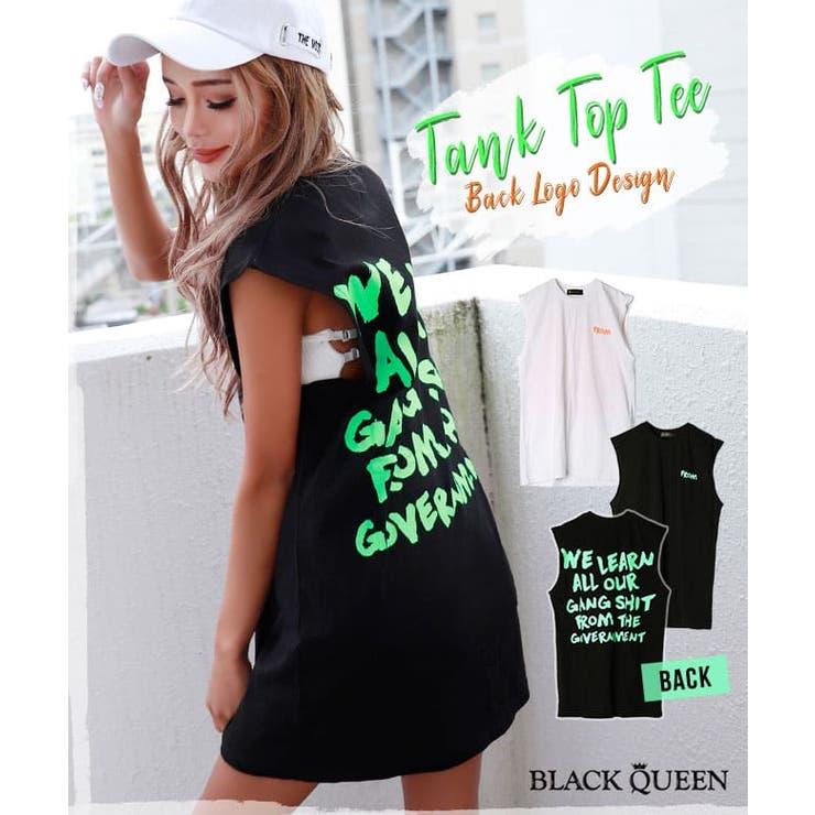 バックロゴタンクTシャツ【藤木そら着用】kegy | BLACK QUEEN  | 詳細画像1