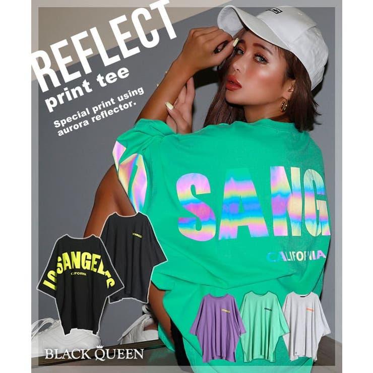 リフレクタープリントTシャツ【藤木そら着用】kegy | BLACK QUEEN  | 詳細画像1