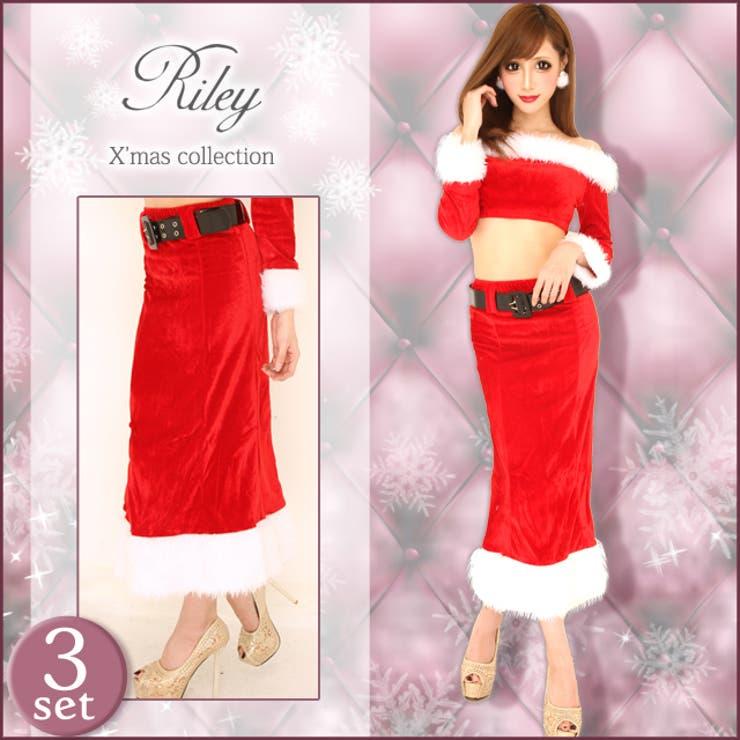 【3点セット】オフショル ロング サンタコスチューム ワンピース サンタクロース クリスマス コスプレ Xmas op dress