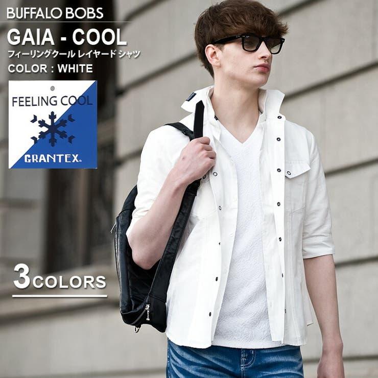 GAIA-COOL(ガイア-クール)フィーリングクールレイヤードカラーシャツBUFFALOBOBSバッファローボブズ | 詳細画像