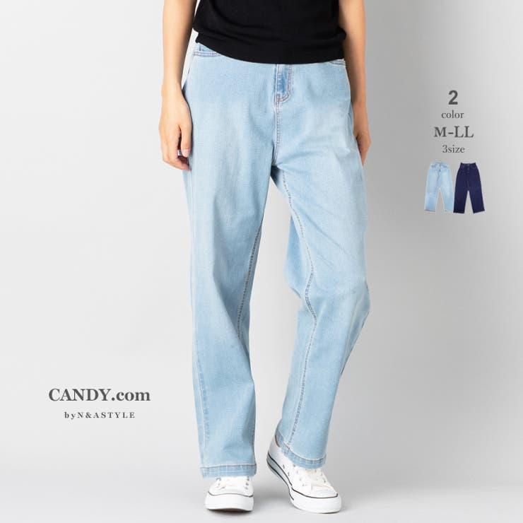 ワイドデニムパンツ レディース ボトムス | Select Shop Candy | 詳細画像1