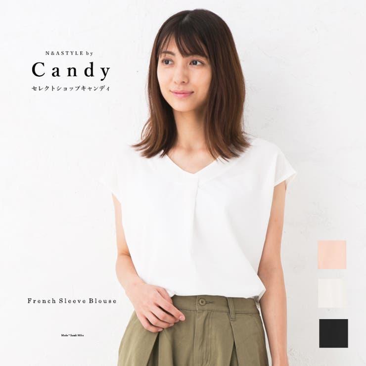テールカットデザイン フレンチスリーブ ブラウス   Select Shop Candy   詳細画像1