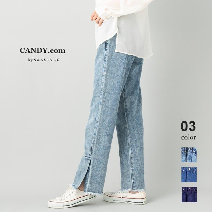 ブーツカットデニムパンツ フレアデニムパンツ オーガニックコットン | Select Shop Candy | 詳細画像1