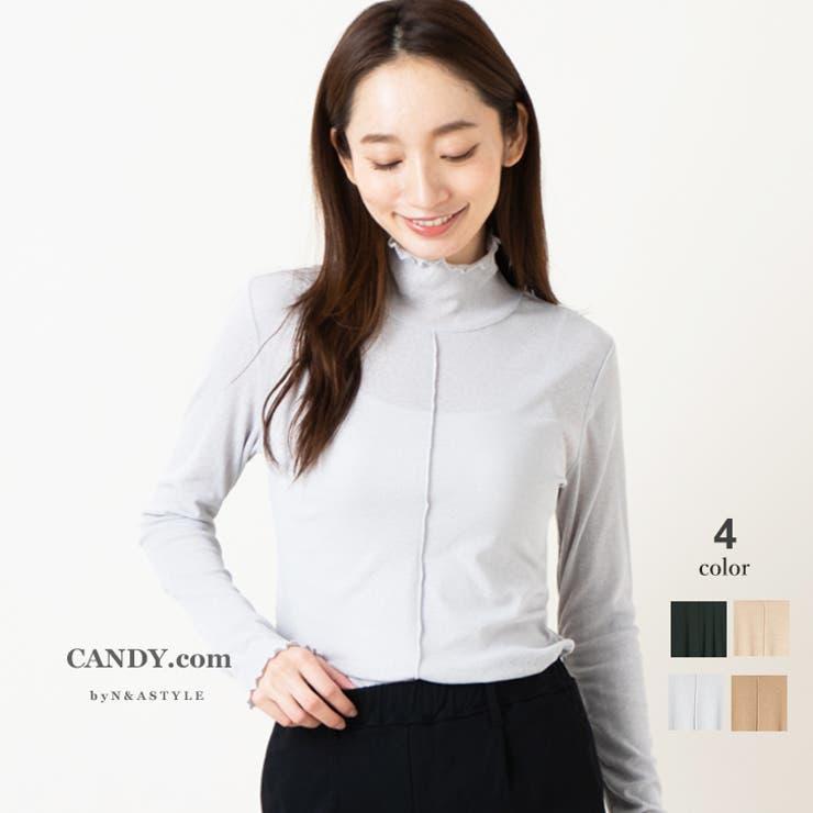シアー素材 ハイネック 長袖 | Select Shop Candy | 詳細画像1