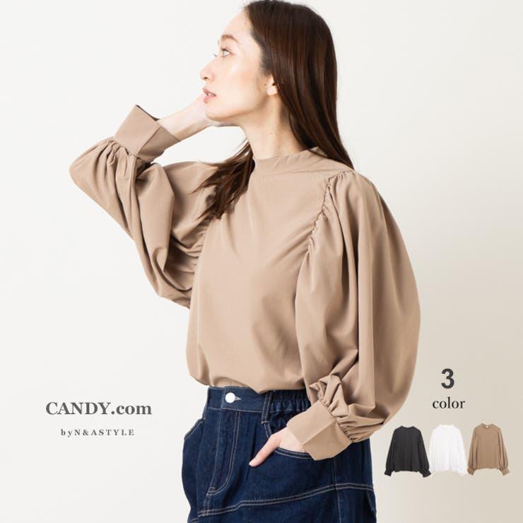 ブラウス ボリュームスリーブ プチハイネック | Select Shop Candy | 詳細画像1