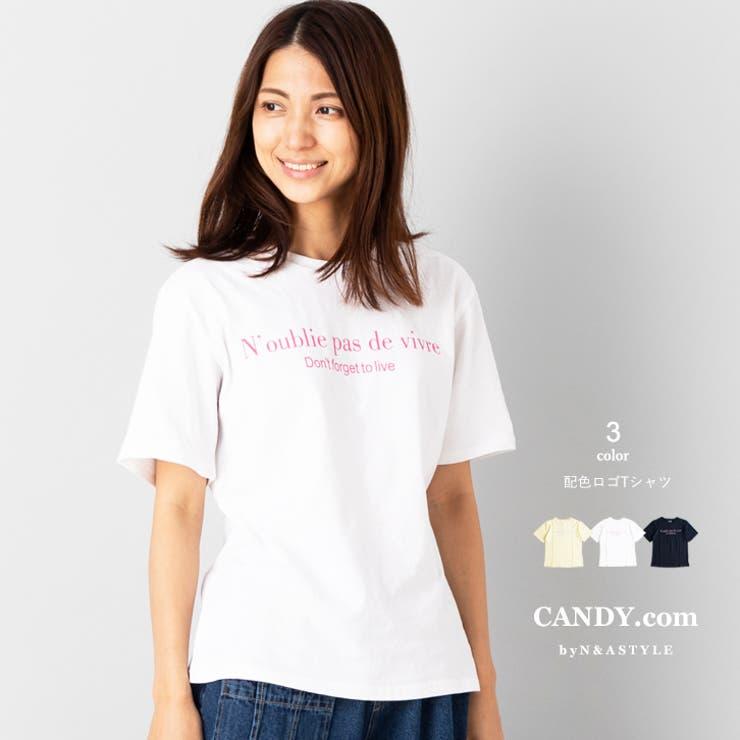 ロゴプリント半袖Tシャツ カットソー 綿100% | Select Shop Candy | 詳細画像1