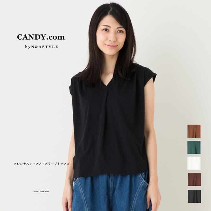 フレンチスリーブ Vネック プルオーバー   Select Shop Candy   詳細画像1