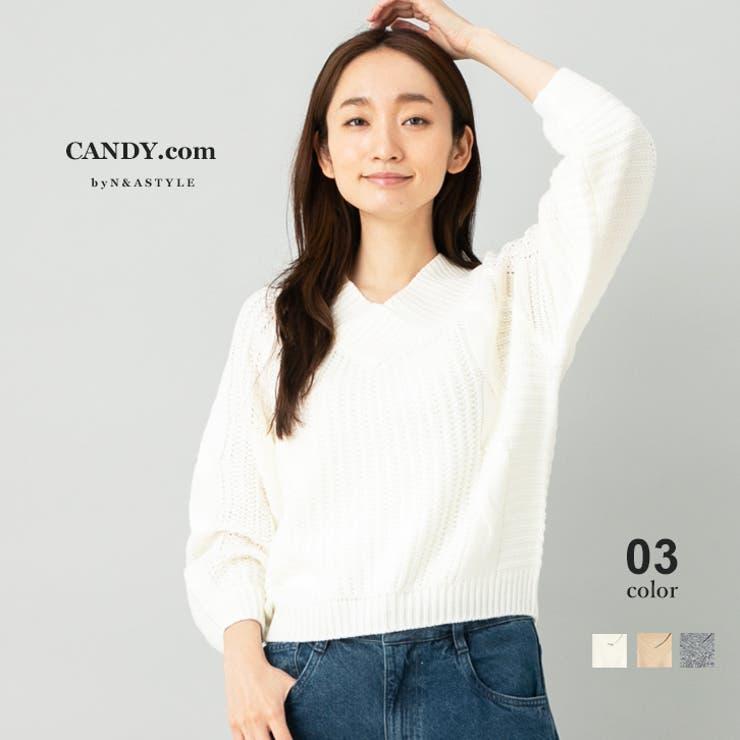 Vネックニット レディース トップス | Select Shop Candy | 詳細画像1