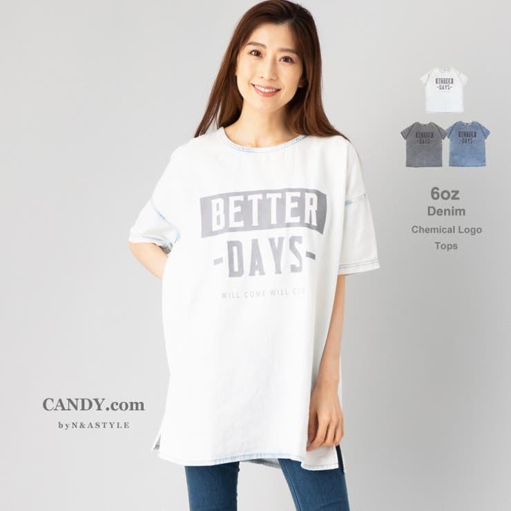 Tシャツ ケミカル加工 ロゴプリント   Select Shop Candy   詳細画像1