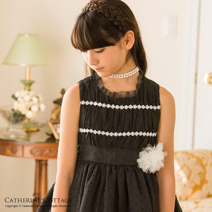 子どもドレス ブラックギャザードレス ワンピース   Catherine Cottage   詳細画像1