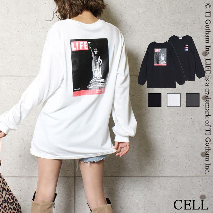417110  LIFE女神プリントロングTシャツ   CELL   詳細画像1