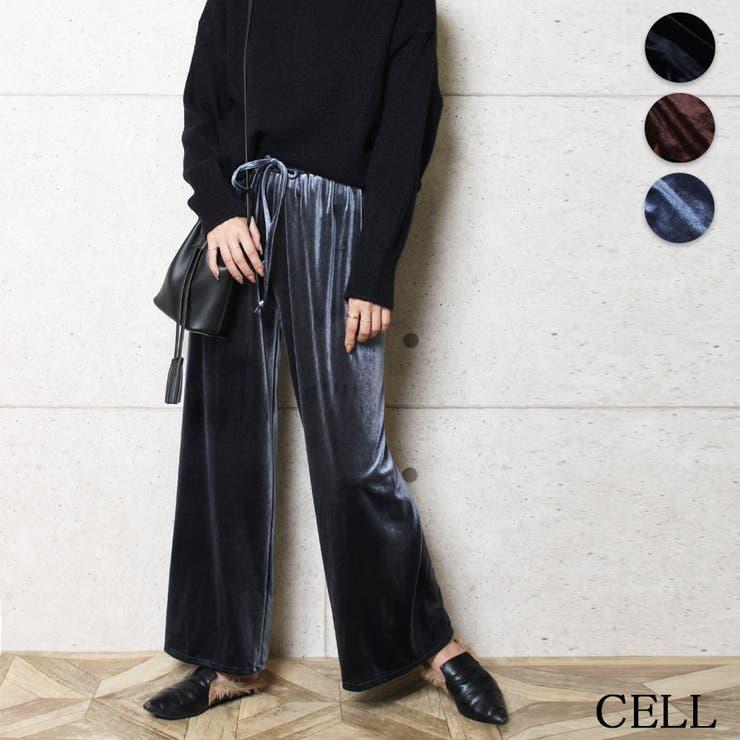 C3480 PT ベルベットパンツ | CELL | 詳細画像1