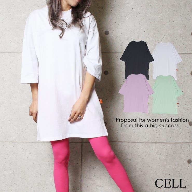 PGY14 サイドスリット入りTシャツ | CELL | 詳細画像1