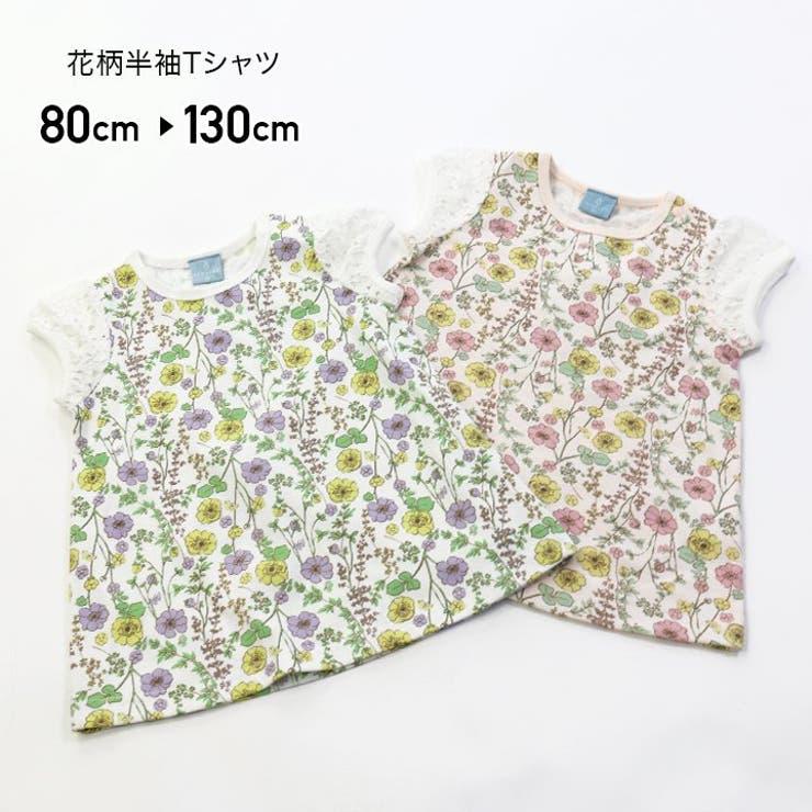 ILEAIYE/花柄半袖Tシャツ   詳細画像