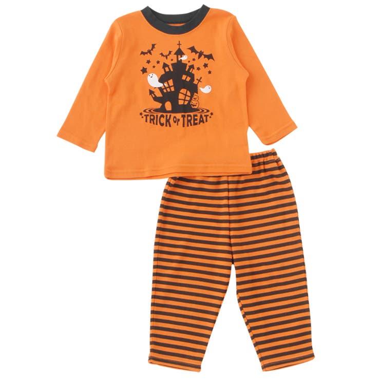 なりきりカボチャ上下セット【パジャマ】赤ちゃん 服 ベビー服 パジャマ 部屋着上下セット ハロウィンチャックルベビー