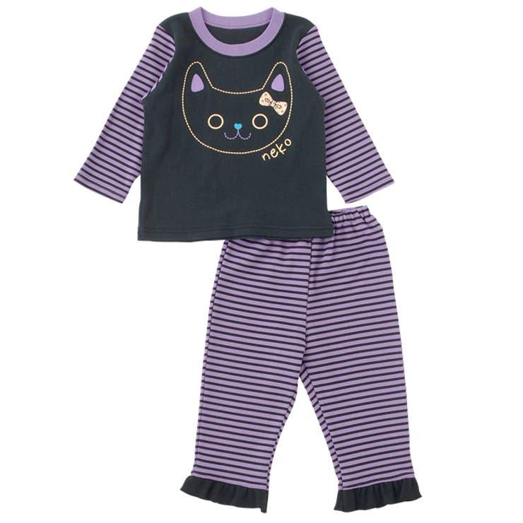 なりきりネコさん上下セット【パジャマ】赤ちゃん 服 ベビー服 パジャマ 部屋着上下セット ハロウィンチャックルベビー