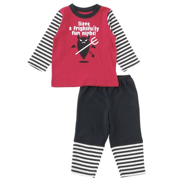 なりきりデビル上下セット【パジャマ】赤ちゃん 服 ベビー服 パジャマ 部屋着上下セット ハロウィンチャックルベビー