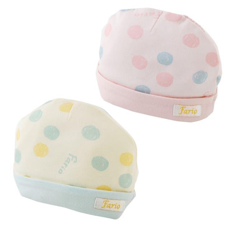 手描きドット新生児帽子帽子キッズベビー新生児ベビー服出産祝い男の子女の子赤ちゃん帽子チャックルベビー | 詳細画像