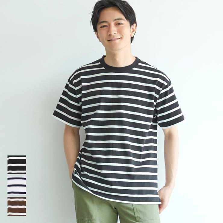 ボーダーTシャツ メンズ クルーネック | coca | 詳細画像1