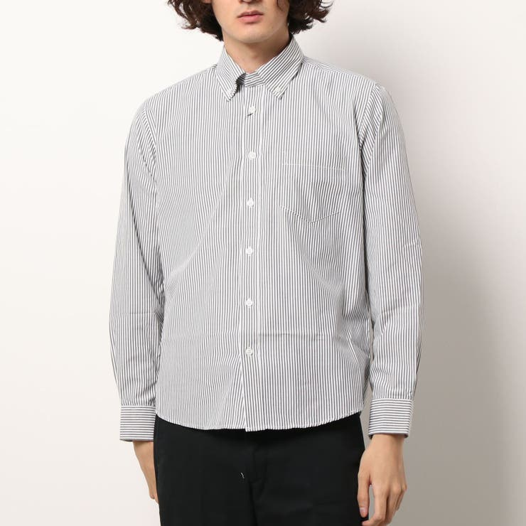メンズ BDレギュラーフィットストライプシャツ | coca | 詳細画像1