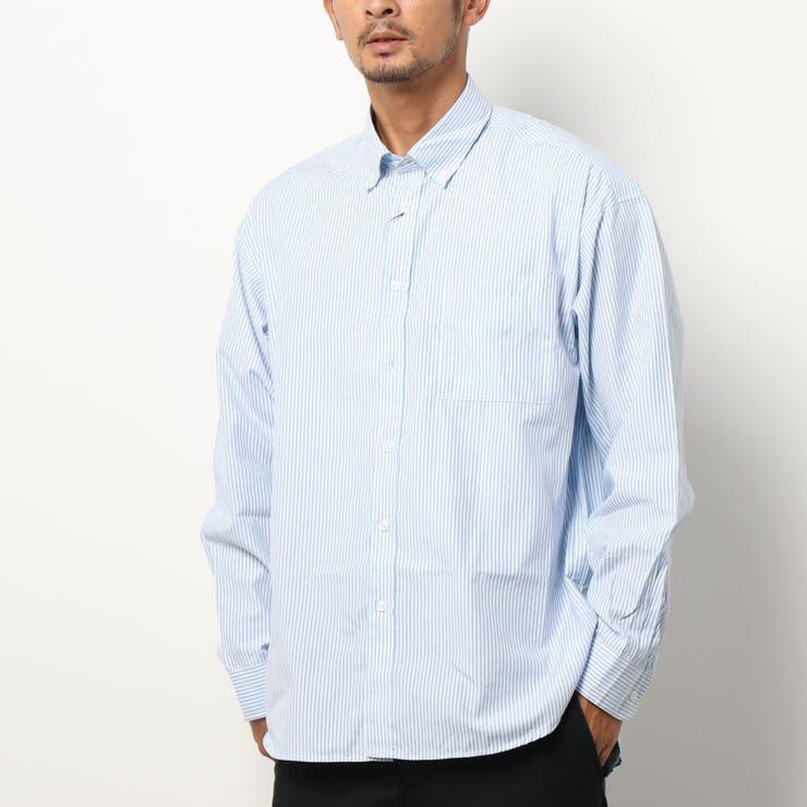 メンズ BDルーズシルエットストライプシャツ | coca | 詳細画像1