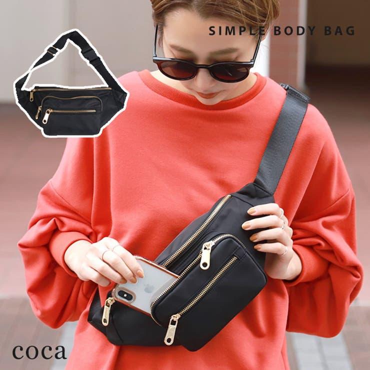 コンパクトミニバッグ肩掛け斜め掛けサコッシュカバン鞄かばんカジュアルポケットベーシック無地大人上品コカCOCACOCAcoca | 詳細画像