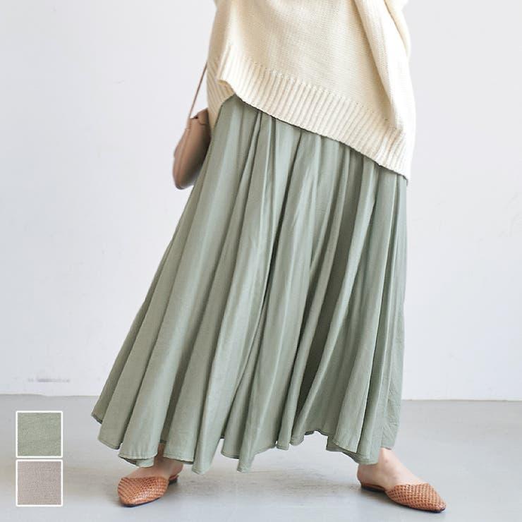 優季さんボトムスロングスカートフレアスカート光沢薄手とろみ裏地付きゆったりきれいめ上品コカCOCAcocaCOCAcoca   詳細画像